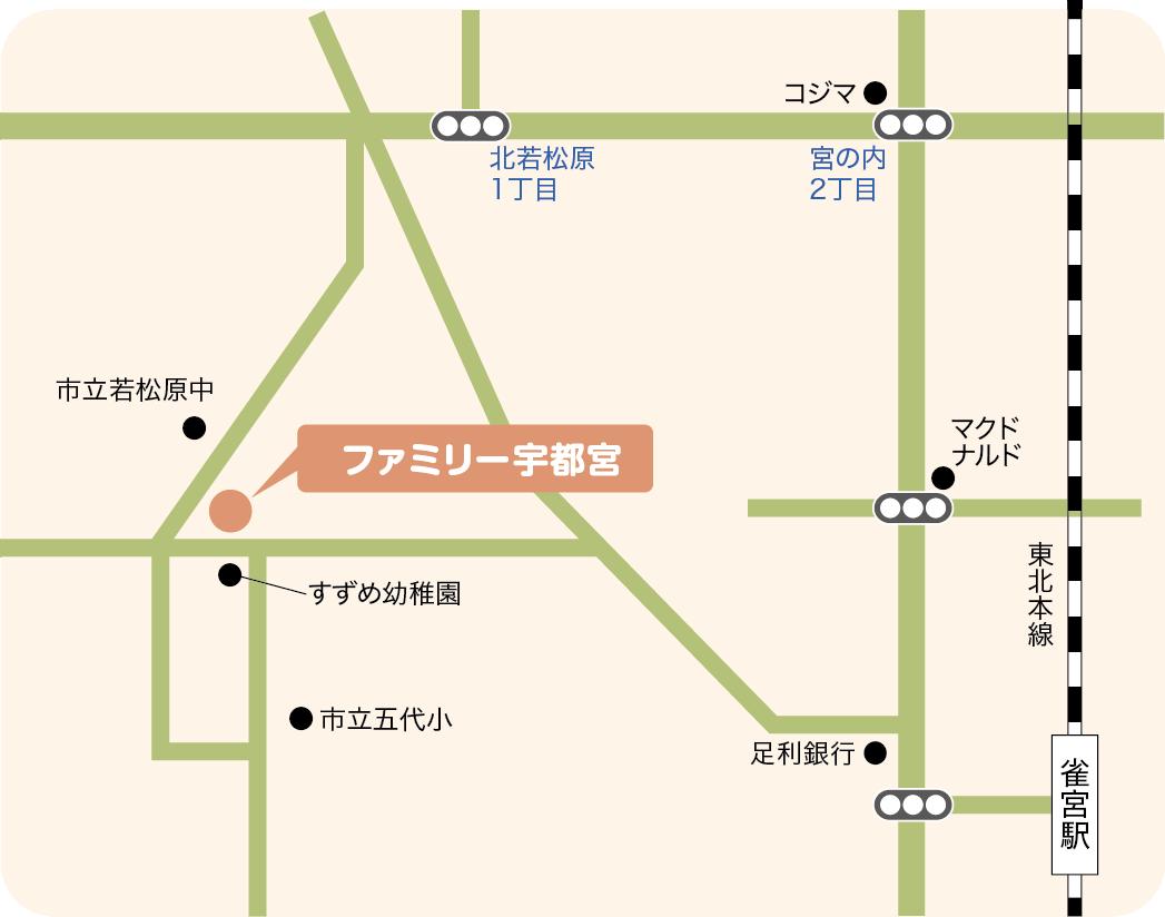 若松原の地図