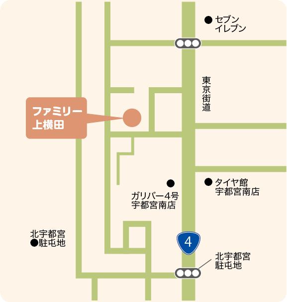 上横田の地図